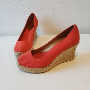 J.Crew orange espadrilles